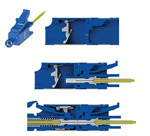 LC Simplified Connector and Adapter
