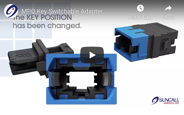 MPO Key Switchable Adapters