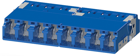 LC Cluster adapter with internal shutters